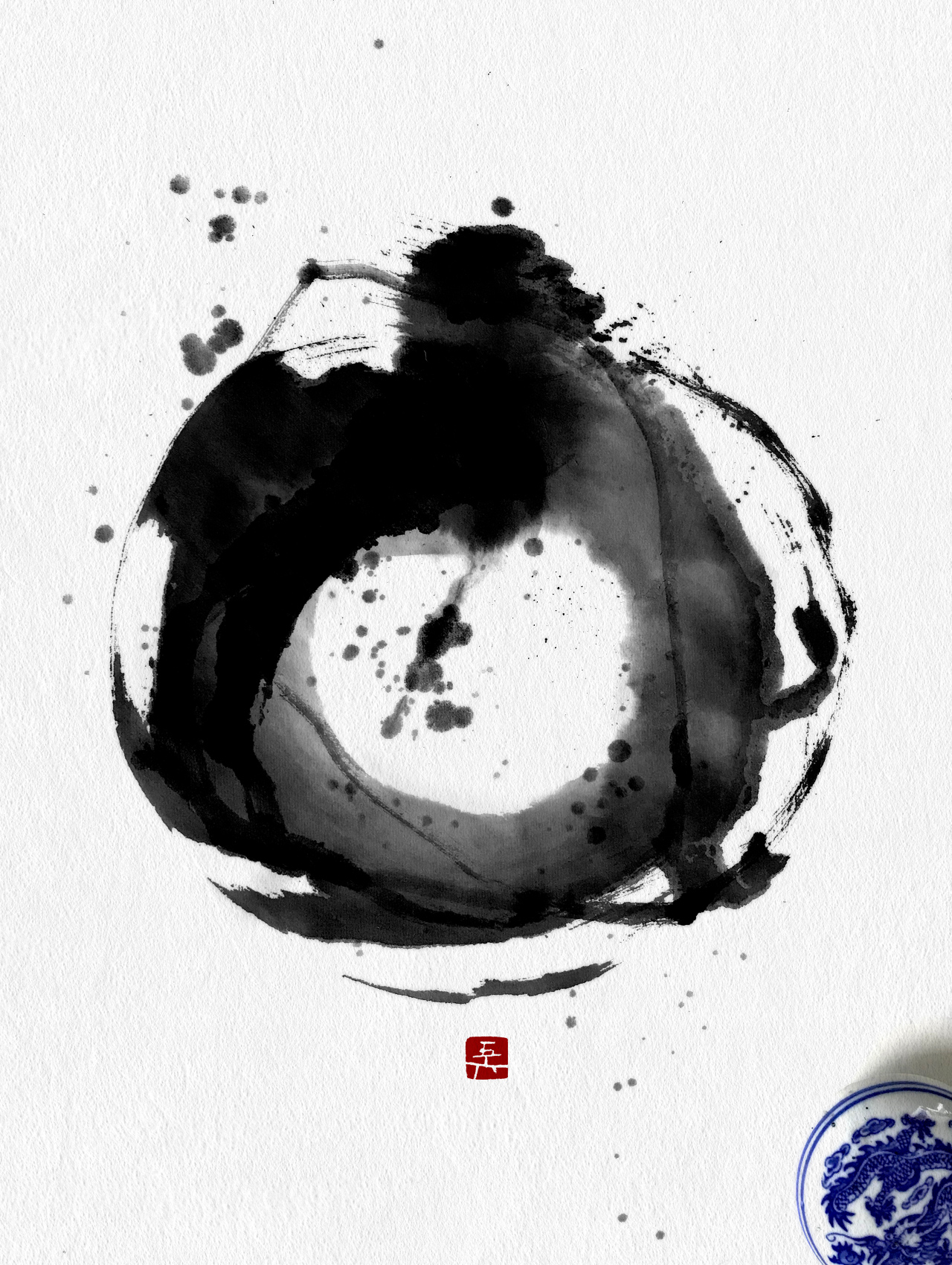 円相 一円相 孤輪月 luna piena full moon 書道作品 japaneseart japanesecalligraphy