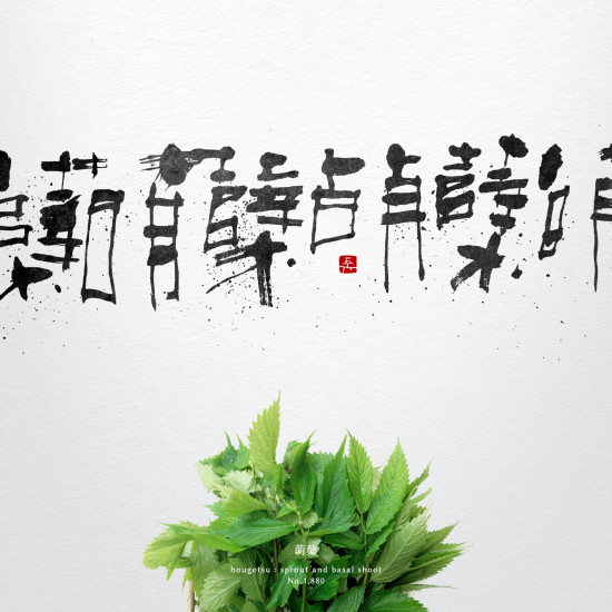 萌蘖 | sprout and basal shoot 書道作品 japaneseart japanese calligraphy 書家 田川悟郎 Goroh Tagawa
