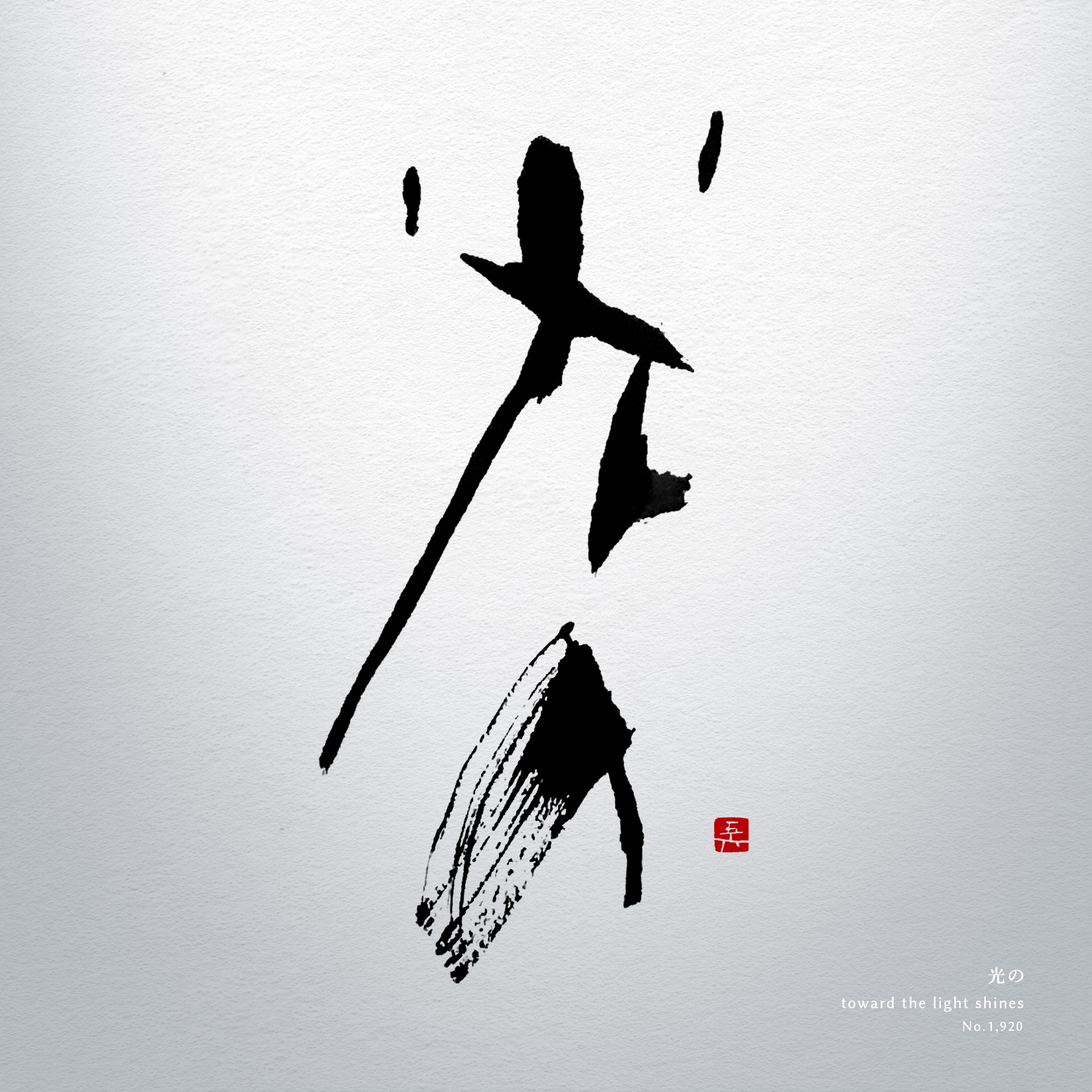 光の | toward the light shines 書道作品 japaneseart japanese calligraphy 書家 田川悟郎 Goroh Tagawa