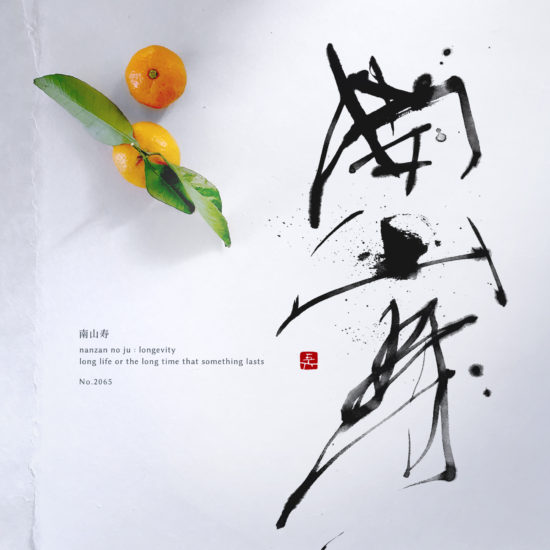 南山寿 | longevity 書道作品 japaneseart japanese calligraphy 書家 田川悟郎 Goroh Tagawa